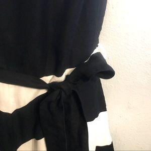 Ashley Stewart Dresses - Ashley Stewart Black & White Chevron Skater Dress